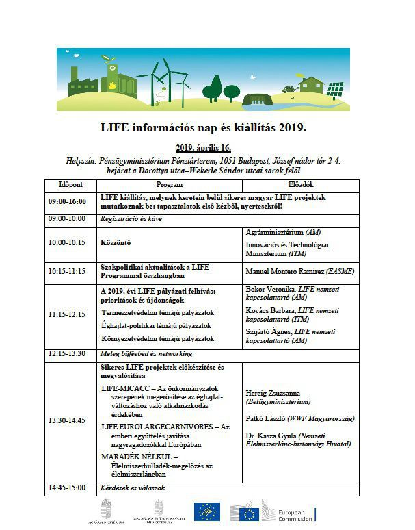 LIFE Information Day 2019 Program