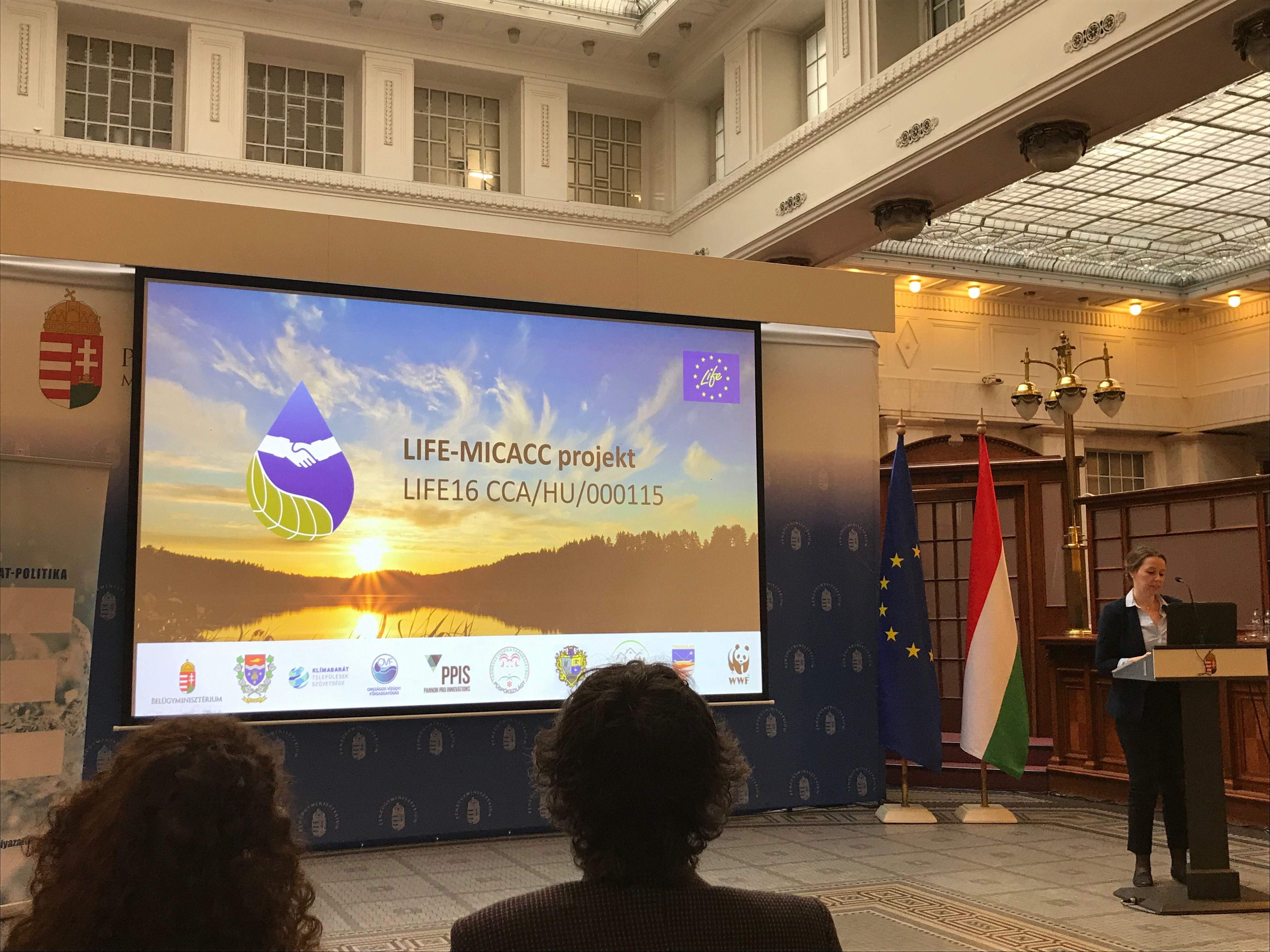 Introducing the LIFE-MICACC project, presentation by Zsuzsanna Hercig