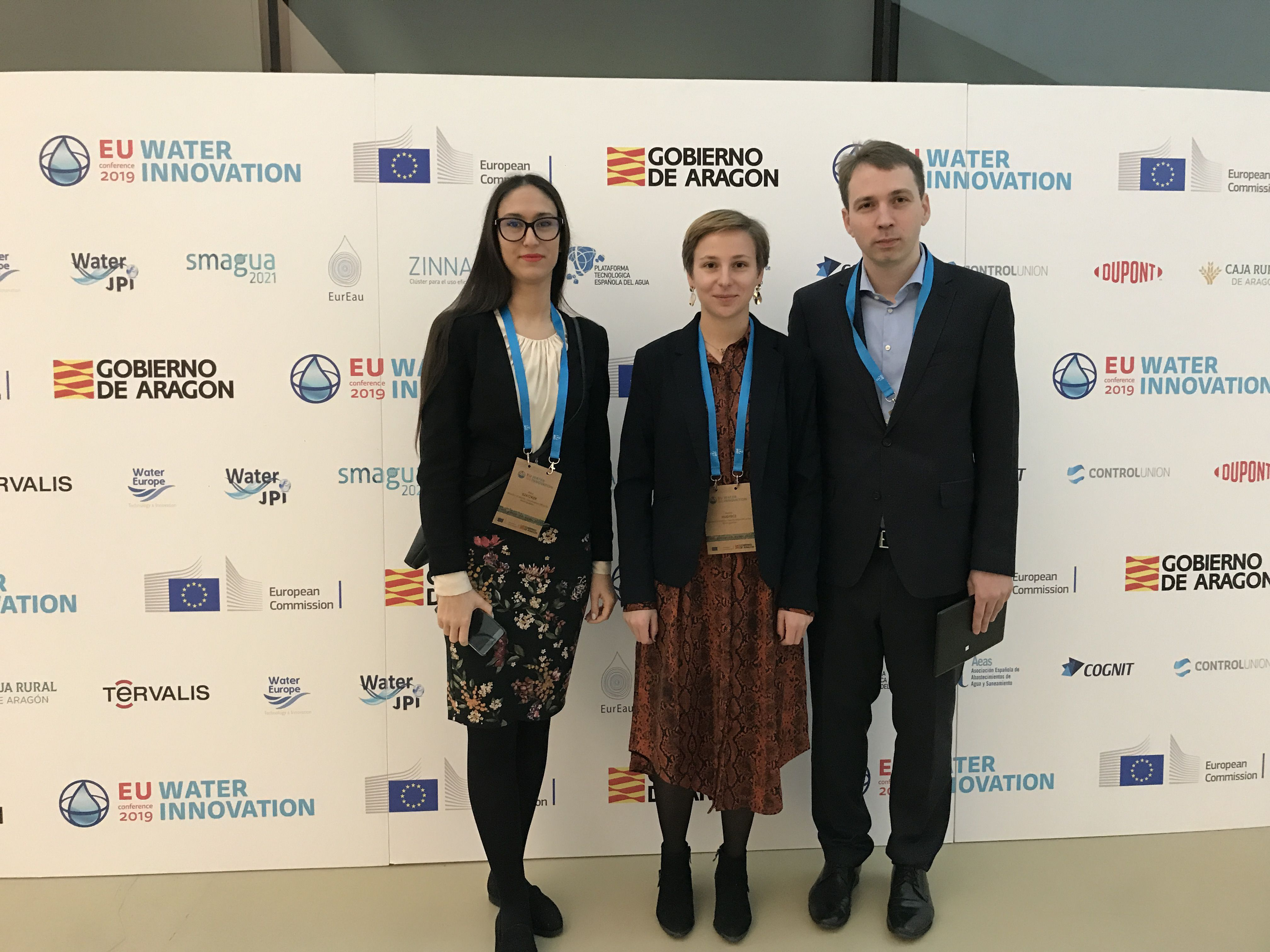 Participating in the name of the LIFE-MICACC project: Petra Szatzker and Bettina Hugyecz (Ministry of Interior), and Tamás Tóth (General Directorate of Water Management)